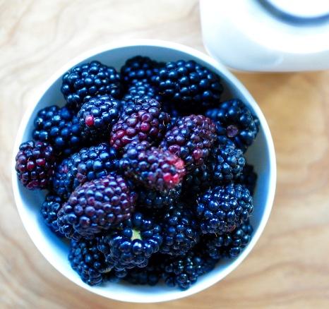 Blackberries and Milk