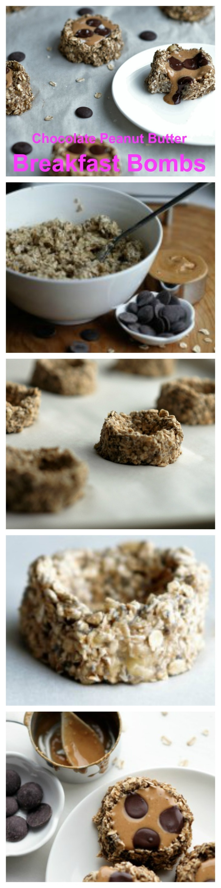 Chocolate Peanut Butter Breakfast Bombs