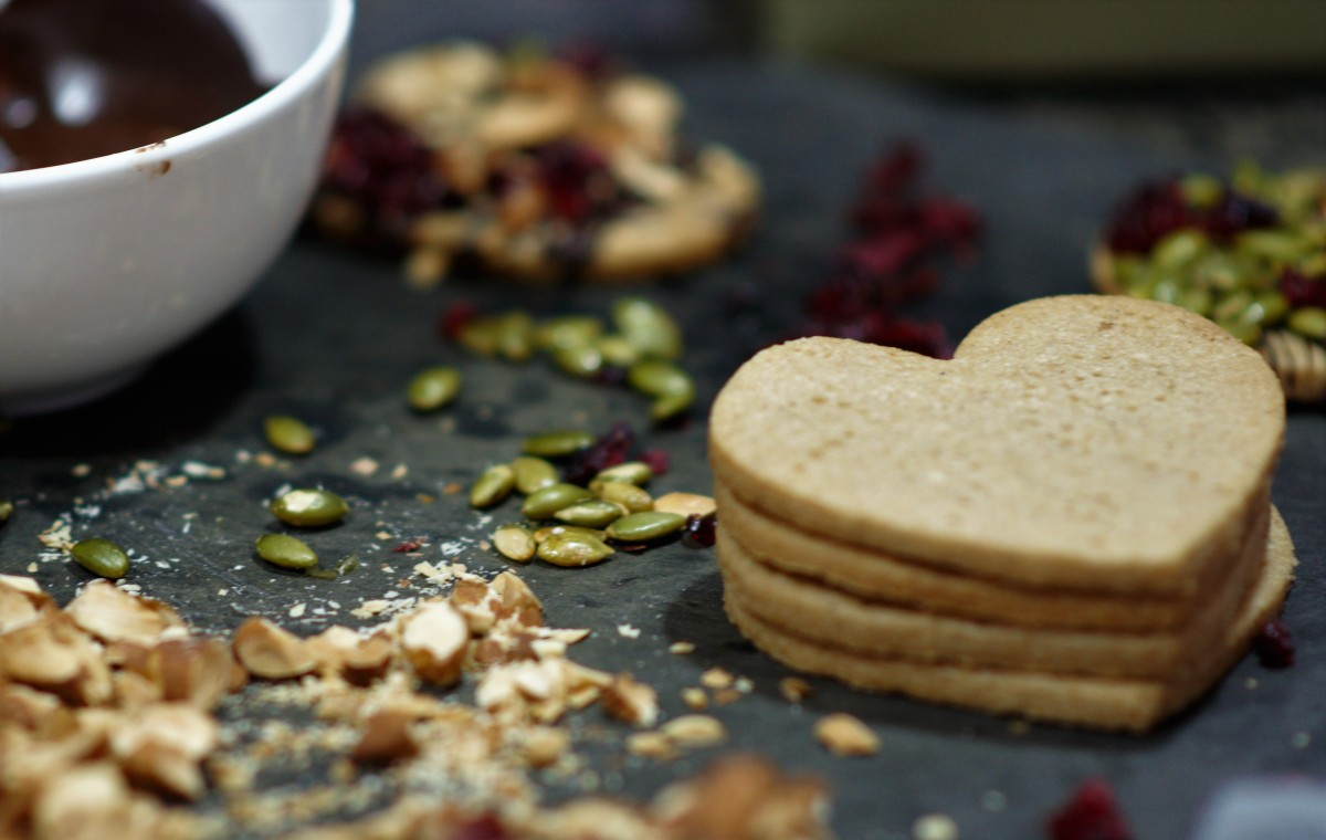 Wholegrain Shortbread Hearts