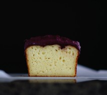 Sugar Free Blueberry Cream Cheese Frosting on Lemon Cake