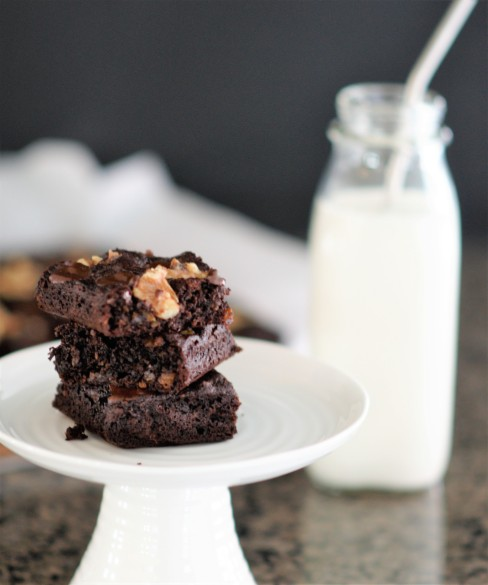 Apricot Brownies and milk