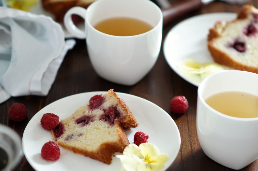 Raspberry Ginger Bundt Cake