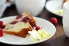 Slice of Raspberry Ginger Bundt Cake