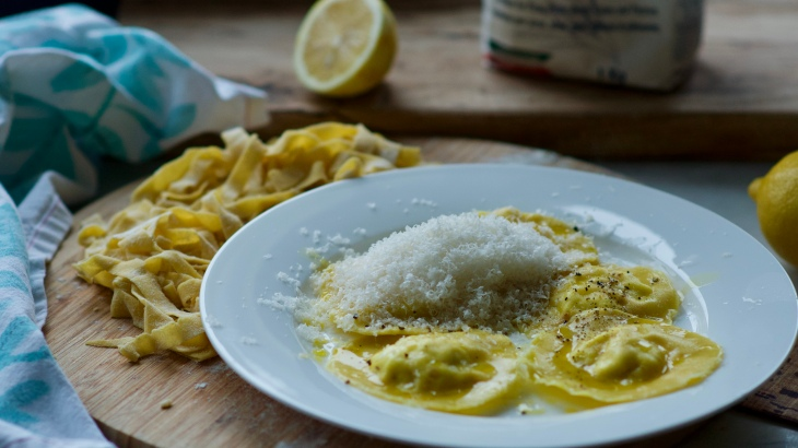Lemon and Goat cheese ravioli from Plenty
