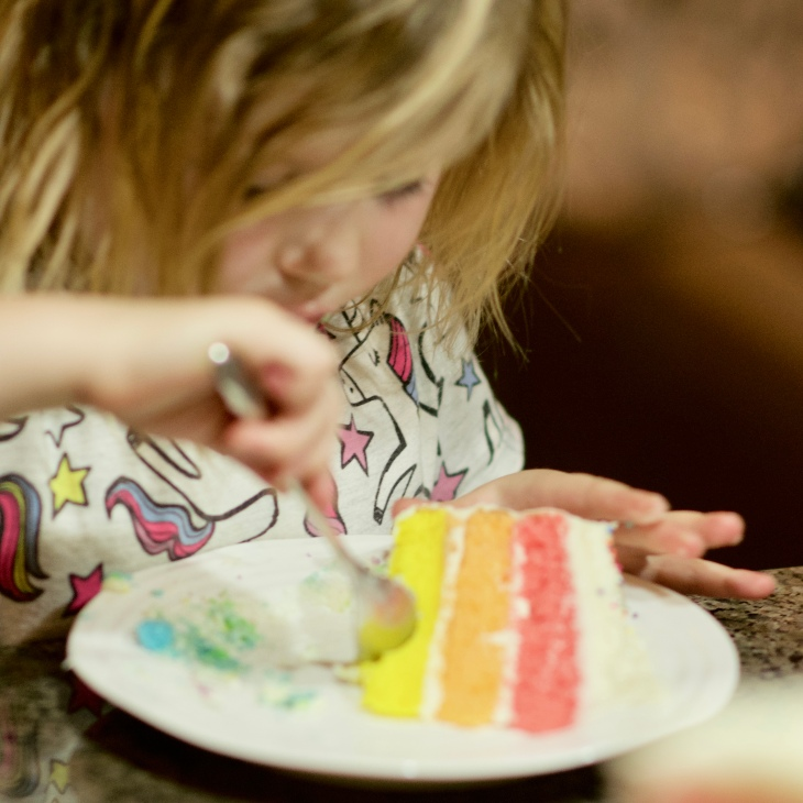 Best Rainbow Birthday Cake with cream cheese icing