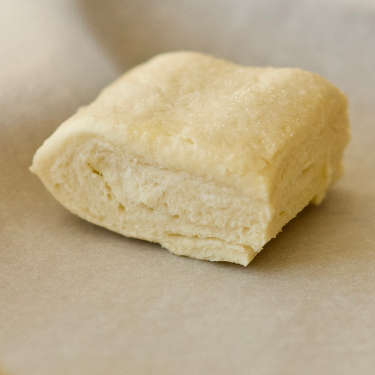 Uncooked buttery scone